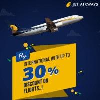 Upto 30% OFF on International Jet Airways Bookings