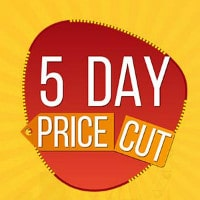 LIMITED : Upto 70% OFF on 5-Day Price Cut Sale !