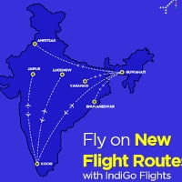 Fly on New Flight Routes with IndiGo Flights !