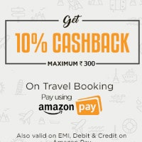 Flat 10% Cashback on Amazon Pay Bookings Site-Wide