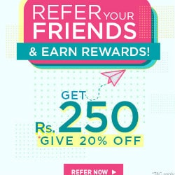 Refer & Get Flat ₹ 150 OFF on Each Referral !