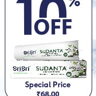Flat 10% OFF on Sudanta Gel Toothpaste @ ₹ 68 !