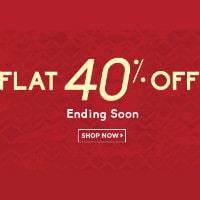 Flat 40% OFF on Fashion Ending Sale