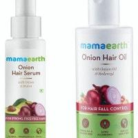 MamaEarth: Flat ₹ 669 on Onion Hair Serum + Onion Hair Oil