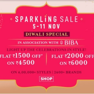 [DIWALI] Flat ₹ 1,500 OFF on Sparkling Sale above ₹ 4,500+