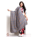 Get 17% off Blue and Silver Gerry Plaid Soft Pashmina Shawl Orders