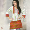 Get 20% off Off White and Red Cotton Tunic Orders