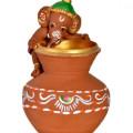Get 29% off Terracotta Handpainted Baby Ganesha Climbing On The Matki Orders