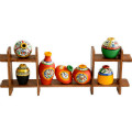 Get 34% off 7 Terracotta Warli Handpainted Pots With Sheesham Wooden Frame Orders