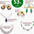 Get 53% off Natural Ruby, Emerald, Sapphire & Freshwater Pearl Jewellery Sets Orders