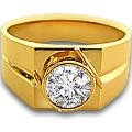 Get 50% off BIG Solitaire Diamond & Gold Men's Ring Orders