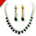 Get 50% off Drop Green Onyx Necklace Earring Set Orders