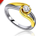 Get 50% off Two Tone Solitaire Ring Set Orders