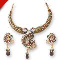 Get 50% off Mesmerising Peacocks - Necklace & Earring Set Orders