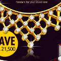 Get 50% off Real Diamond & 18K Gold Necklace Pendant Orders