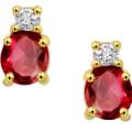 Get 50% off Diamond & Ruby Solitaire Earrings Orders
