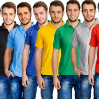 75% OFF on Lime Combo of 8 Polo T-Shirts Orders