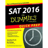 Get 21% off SAT 2016 for Dummies: Quick Prep (Paperback) Orders