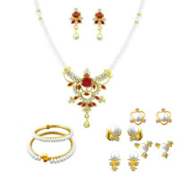 Get 67% off JPEARLS Red Stone Pendant Set Orders