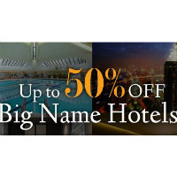 Ctrip: Get up to 50% off Big Name Hotels Bookings Orders