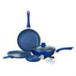 Get 60% off WonderChef 4 Pcs Non Stick Cookware Set Royal Velvet Blue Orders
