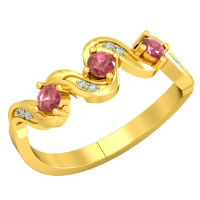 35% OFF on Romantic Rendezvous - Real Diamond & Ruby Ring Orders