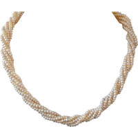 50% OFF on 5 Line Twisted Pearl Necklace Orders