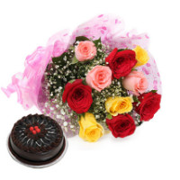 25% OFF on Vibrant Roses & Cake Orders