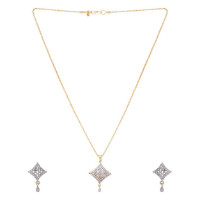 60% OFF on Designer Pendant Set Studded With Shiny Stones Orders