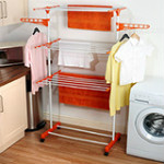 62% OFF on Kawachi I32 Mild Steel Laundry Hanger / Easy Cloth Drying Stand Orders