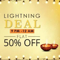 Flat 50% OFF on Diwali Lightning Deal !