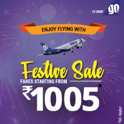 From ₹ 1,005 on GoAir Domestic Festive Bookings