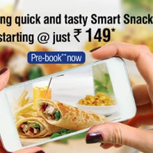 GoAir: From ₹ 149 on Quick & Tasty Smart Snacks !