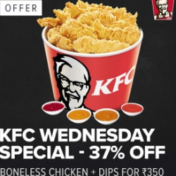 Flat 37% OFF on KFC Wednesday's !