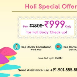 HOLI : Flat 50% OFF on Full Body Check-Ups !