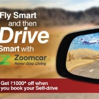 GoAir: Upto ₹ 1,000 OFF on Zoomcar with ALL Bookings Site-Wide