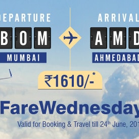 GoAir: From ₹ 1,610 on Low Fare Wednesday Bookings !