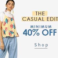 AJIO: Minimum 40% OFF on The Casual Edit Orders !