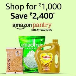 Amazon India: Save ₹ 2,400 on Amazon Pantry Orders above ₹ 1,000 !